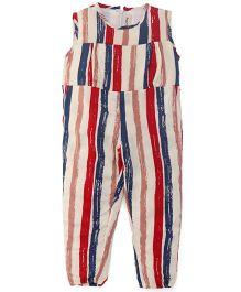 The KidShop Striped Print Jumpsuit - Multicolor