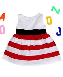 Aww Hunnie Stripes Dress - White