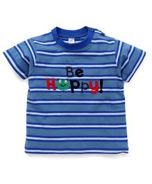 Baby Yi Be Happy Crew Neck Tee - Blue
