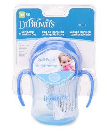 Dr. Brown's Soft Spout Transition Cup With Handles Stage 1 Blue - 180 ml