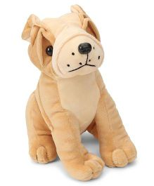 Funzoo Bull Dog Soft Toy Brown - 20 cm