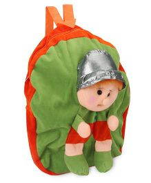 Funzoo Soft Toy Bag Candy Doll Shape Orange Green - 14.5 Inches