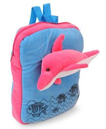 Funzoo Soft Toy Bag Dolphin Shape Pink Blue - 13.3 Inches