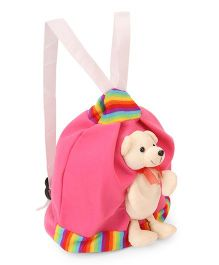 Funzoo Soft Toy Bag Puppy Shape Pink - 9.8 Inches