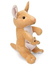 Funzoo Kangaroo With Baby Soft Toy Brown - 30 cm