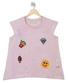 Raine And Jaine Patch Work Girls Tee - White