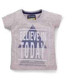 Olio Kids Short Sleeves Printed T-Shirt - Grey