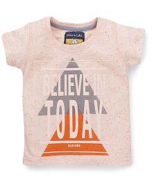 Olio Kids Short Sleeves Printed T-Shirt - Peach