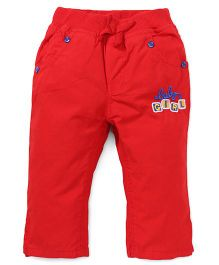 Olio Kids Full Length Pants Embroidery - Red