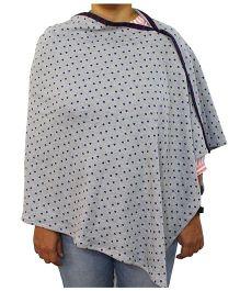 Kadam Baby Nursing Poncho Heart Print - Grey