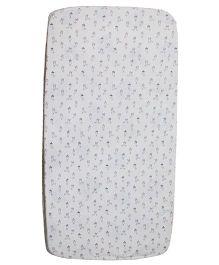 Kadam Baby Bunny Print Crib Sheet - White