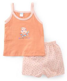 Tango Singlet Top And Shorts Printed - Peach