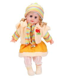 Smiles Creation Doll In Winter Dress Yellow - 52 cm