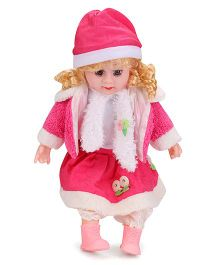 Smiles Creation Doll In Winter Dress Pink - 52 cm