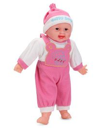 Smiles Creation Baby Doll Doggy Print Pink - 40 cm