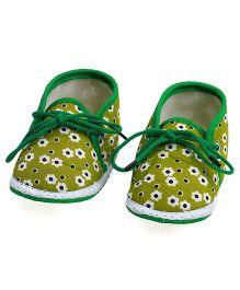 Soft Tots Floral Cloudfoam Booties - Green