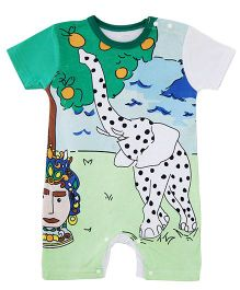 Dells World Elephant Printed Casual Romper - Multicolour