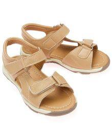 Little Hip Boutique Open Toe Sandals - Brown