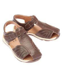 Little Hip Boutique Closed Toe Sandals - Brown
