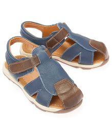 Little Hip Boutique Strap Sandals - Blue & Brown