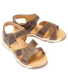 Little Hip Boutique Open Toe Strap Sandals - Brown