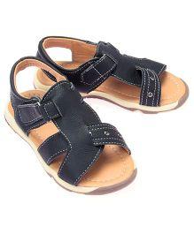 Little Hip Boutique Open Toe Overlap Sandals - Black