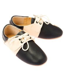 Little Hip Boutique Shoes With Velcro - Blue & Beige