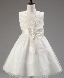 Angel Closet Sleeveless Princess Flower Tutu Party Dress - White
