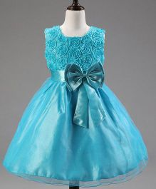 Angel Closet Sleeveless Princess Flower Tutu Party Dress - Blue