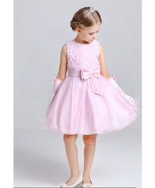 Angel Closet Sleeveless Princess Flower Tutu Party Dress - Pink