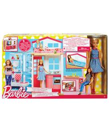 Barbie Two Story House & Doll - Multicolour