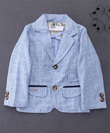 ZY & UP Full Sleeves Party Blazer With Front Pockets - Sky Blue