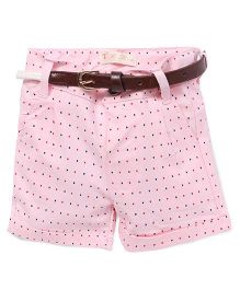 TBB All Over Heart Print Shorts - Pink