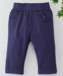 TBB Bow Applique at Front 3/4th Track Pant - Blue