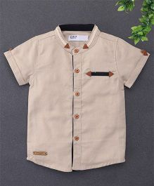 ZY & UP Casual Shirt For Boys - Khaki