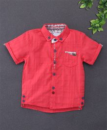 ZY & UP Shirt With Patch Pocket At Front - Red