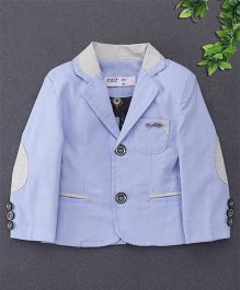 ZY & UP Trendy Full Sleeves Party Blazer - Sky Blue