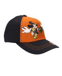 Disney Mickey Mouse Summer Cap - Black Orange