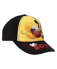 Disney Mickey Mouse Summer Cap - Black Yellow