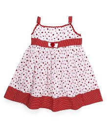 Mom's Girl Lady Bug Dress With Dots - Red