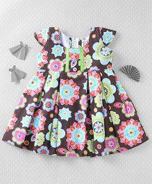 Mom's Girl Floral Print Dress - Brown