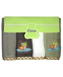 Owen - 4 Piece Terry Wash Cloth