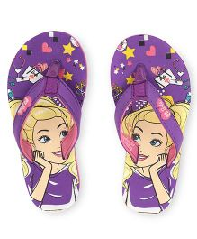 Barbie Print Flip Flops - Purple