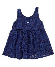 TBB Flower Design Dress - Navy Blue