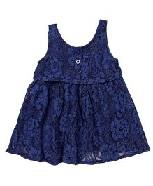 TBB Flower Design Dress - Navy Blue