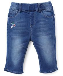 TBB Denim Jeans With Embroidery - Blue