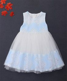 Fen Cai Sleeveless Party Dress - Blue & White