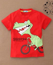 Lolly Kids Monster Print Tee - Red