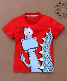 Lolly Kids Dragon Print Tee - Red