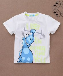 Lolly Kids Animal Print Tee - White & Blue